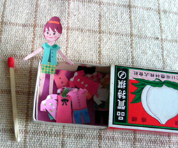 Paper Doll in a Match Box